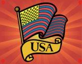 Dibujo Bandera de los Estados Unidos pintado por Zafi2005