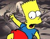 Dibujo Bart 2 pintado por polette