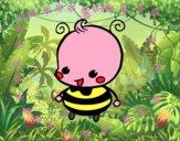 Dibujo Bebé abeja pintado por anasue