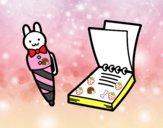 Bolígrafo infantil y libreta