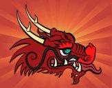 Dibujo Cabeza de dragón rojo pintado por AleHerrera