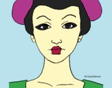 Dibujo Cara de geisha pintado por queyla