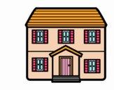 Casa con dos pisos