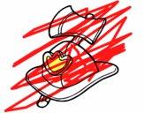 Casco y hacha de bombero