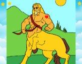 Dibujo Centauro con arco pintado por LunaLunita
