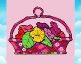 Dibujo Cesta de flores 5 pintado por LunaLunita