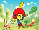 Dibujo Chicken Little jugando a béisbol pintado por Jaramill