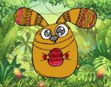 Conejito de Pascua con ojos saltones