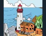 Dibujo Faro 1 pintado por laiagoro23