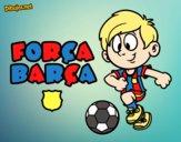Dibujo Força Barça pintado por neymarisma