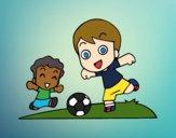 Dibujo Fútbol en el recreo pintado por vanesa123
