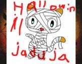 Dibujo Gato garabato momia pintado por gibee