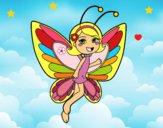 Dibujo Hada mariposa contenta pintado por LunaLunita