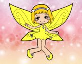 Dibujo Hada voladora pintado por milanyela