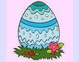 Dibujo Huevo de pascua 2 pintado por queyla