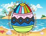 Huevo de Pascua estampado