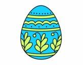 Huevo de Pascua mandala