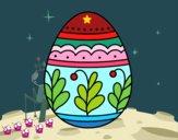 Dibujo Huevo de Pascua mandala pintado por queyla