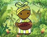 Dibujo Joven africana pintado por AleHerrera
