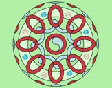 Dibujo Mandala 26 pintado por blanca