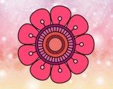 Dibujo Mandala en forma de flor pintado por Maluloba