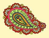 Dibujo Mandala lágrima pintado por GabyMil