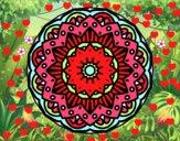 Dibujo Mandala modernista pintado por MiluuTurra