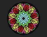 Dibujo Mandala naturaleza pintado por queyla