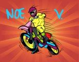 Dibujo Moto de motocross pintado por noevalanta
