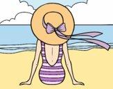 Dibujo Mujer mirando el mar pintado por laiagoro23