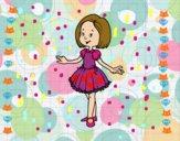 Dibujo Niña con vestido de princesa pintado por  LAURA017
