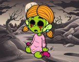 Dibujo Niña terrorífica pintado por  LAURA017