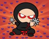 Dibujo Niño ninja pintado por lou05