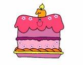 Dibujo Pastel de cumpleaños pintado por LunaLunita