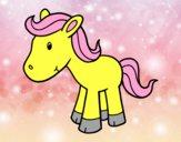 Dibujo Poni feliz pintado por Micaela2