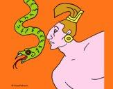 Serpiente y guerrero