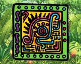 Dibujo Símbolo maya pintado por maria709