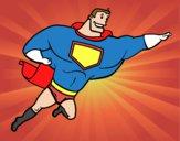 Dibujo Superhéroe grande pintado por lou05