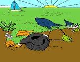 Tierra contaminada