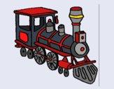 Dibujo Tren 3 pintado por queyla
