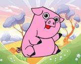Dibujo Un cerdo  pintado por layer0321