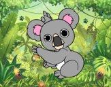 Dibujo Un Koala pintado por Micaela2