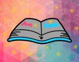 Dibujo Un libro abierto pintado por anasue