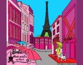 Barbie en la Torre Eiffel