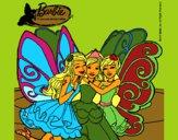 Dibujo Barbie y sus amigas en hadas pintado por kittylove