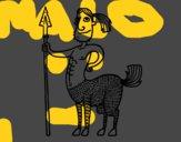 Dibujo Centauro con lanza pintado por nicocapo