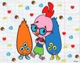Chicken Little con Melvin y Tina