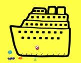 Dibujo Crucero pintado por melianacar