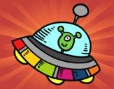 Dibujo Extraterrestre en nave espacial pintado por milydg