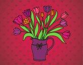 Dibujo Jarrón de tulipanes pintado por amalia